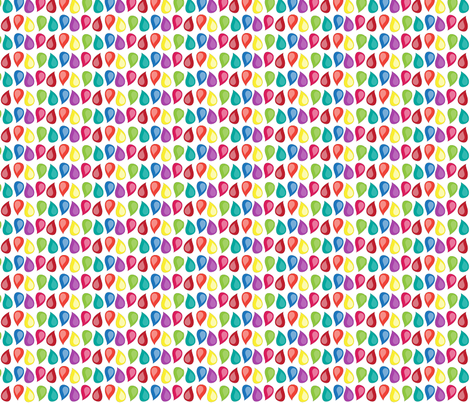 fox_rainbow_line_drops fabric by wendyg on Spoonflower - custom fabric