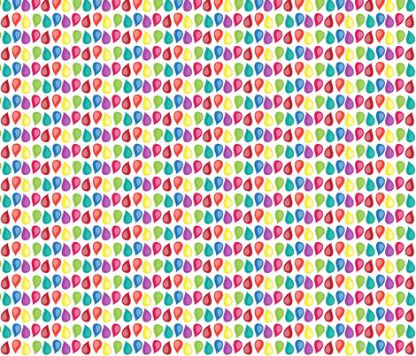 Rainbow Raindrops fabric by studio30 on Spoonflower - custom fabric