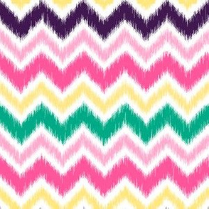 Multi-Colored Ikat Chevron