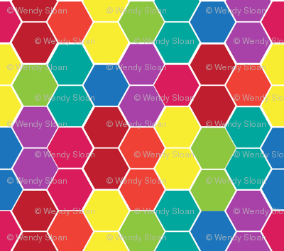 Rainbox Hexagons
