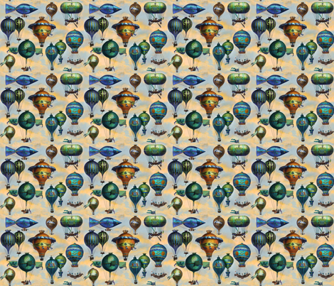 AVIATION FLOTATION III fabric by bzbdesigner on Spoonflower - custom fabric