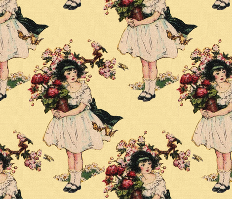 The Beautiful Rose ~ Yellow  fabric by peacoquettedesigns on Spoonflower - custom fabric