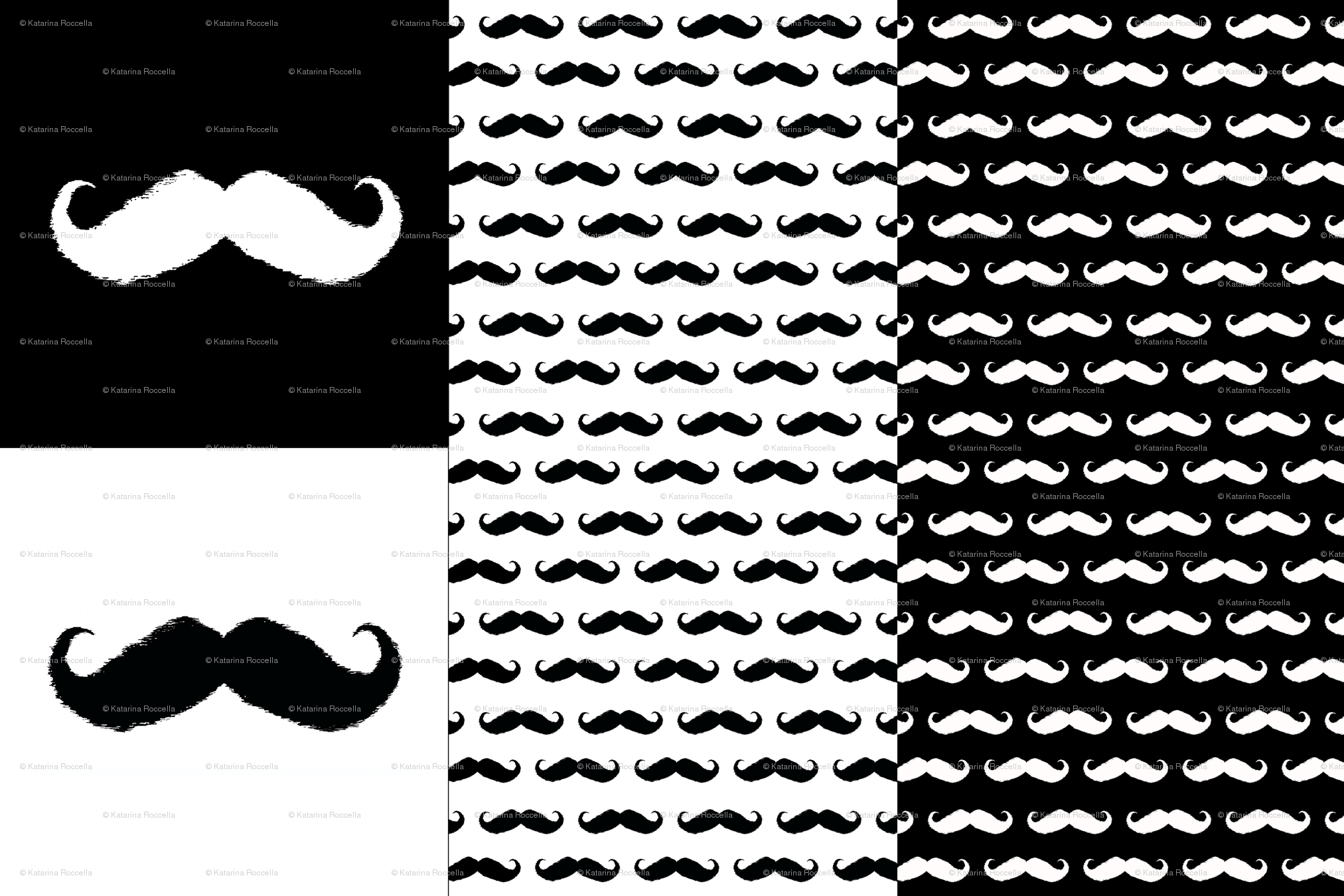 Girly Mustache Background