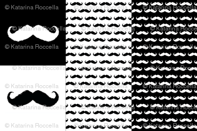 mustache ikat pillow cases