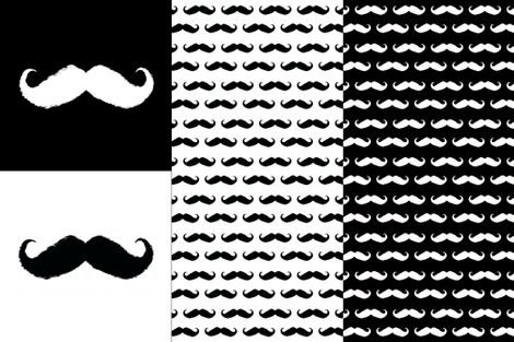 mustache ikat pillow cases fabric by katarina on Spoonflower - custom fabric