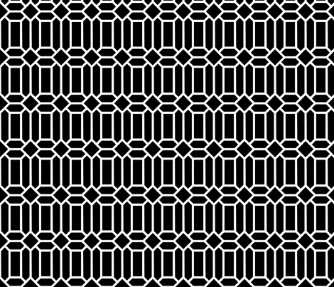 Tudor Glass Black fabric by creative_merritt on Spoonflower - custom fabric