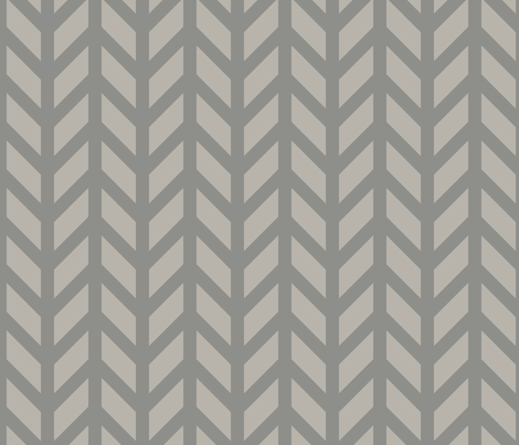 Silver Chevron fabric by creative_merritt on Spoonflower - custom fabric