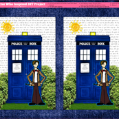 Doctor Who Inspired DIY Project (Pillow or Large Applique Patch)