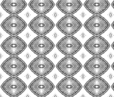 typewriter key chain (black on white) fabric by wednesdaysgirl on Spoonflower - custom fabric