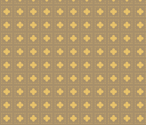 Bronze Tudor Rose Cutout fabric by creative_merritt on Spoonflower - custom fabric
