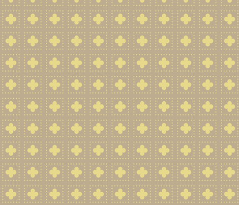 Gold Tudor Rose Cutout fabric by creative_merritt on Spoonflower - custom fabric