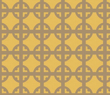 Bronze Tudor Circle fabric by creative_merritt on Spoonflower - custom fabric