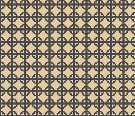 Monotone Tudor Circle fabric by creative_merritt on Spoonflower - custom fabric