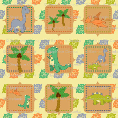 Dinosaurs in the Wild Squares
