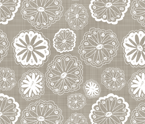 Flower Doodles fabric by dianef on Spoonflower - custom fabric