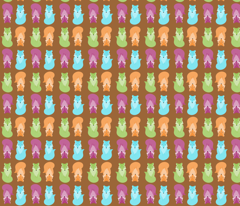 fox_woody_bright fabric by wendyg on Spoonflower - custom fabric
