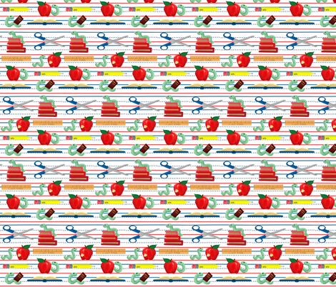 school days fabric by mejo on Spoonflower - custom fabric