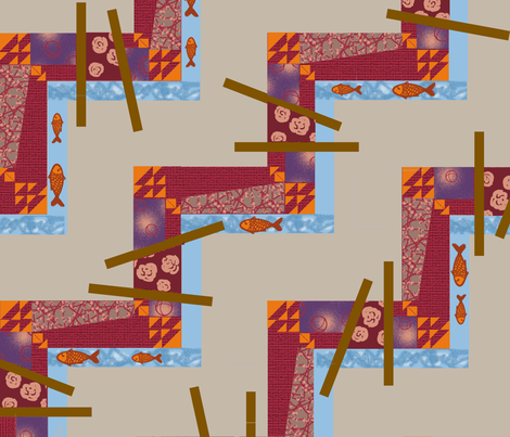 Asian Garden fabric by melachmulik on Spoonflower - custom fabric