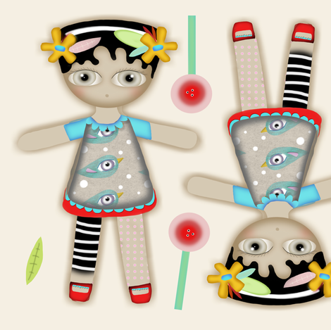 Doll fabric by rupydetequila on Spoonflower - custom fabric