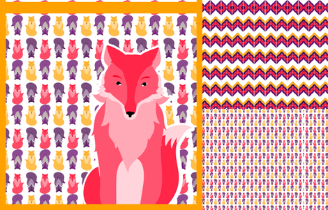 fox_coordinates_2 fabric by wendyg on Spoonflower - custom fabric