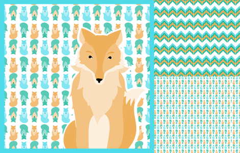 fox_coordinates_3 fabric by mainsail_studio on Spoonflower - custom fabric
