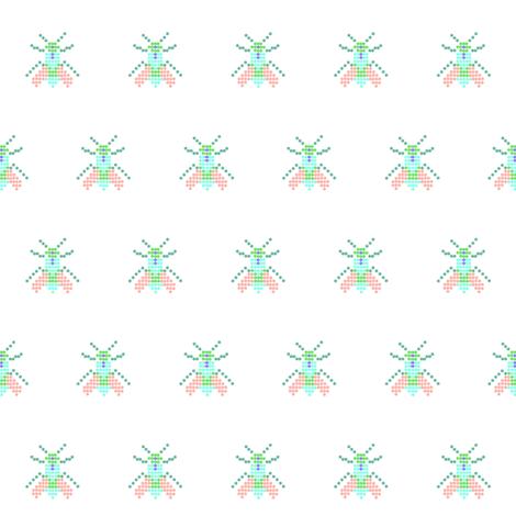 white fly fabric by tagkari on Spoonflower - custom fabric