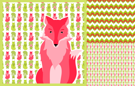 fox_coordinates_7 fabric by wendyg on Spoonflower - custom fabric