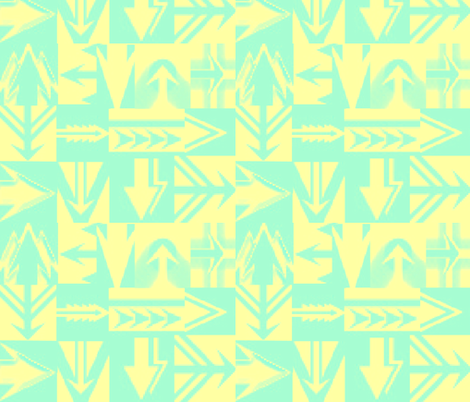 TAHITI ARROWS fabric by bluevelvet on Spoonflower - custom fabric