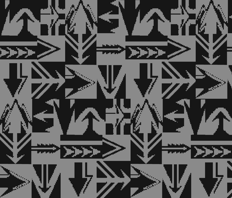 AZTEC ARROWS fabric by bluevelvet on Spoonflower - custom fabric