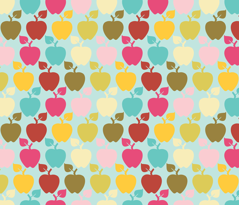 apples fabric by natasha_k_ on Spoonflower - custom fabric