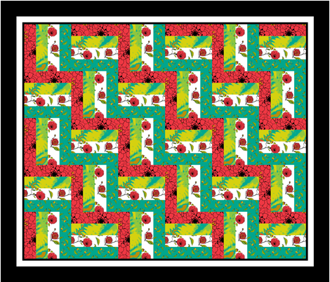 Rail_Fence_quilt_3_triple_border fabric by khowardquilts on Spoonflower - custom fabric