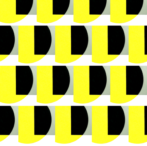 Heer Bokel Black, Yellow & Grey fabric by stoflab on Spoonflower - custom fabric