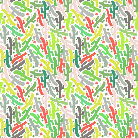 Mexican cactus fabric by susiprint on Spoonflower - custom fabric