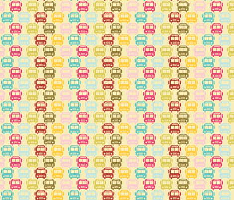 School_busses fabric by natasha_k_ on Spoonflower - custom fabric