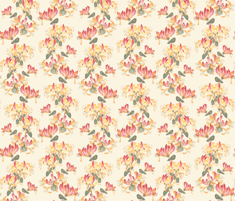 Climbing Honeysuckle - large repeat fabric by gail_mcneillie on Spoonflower - custom fabric