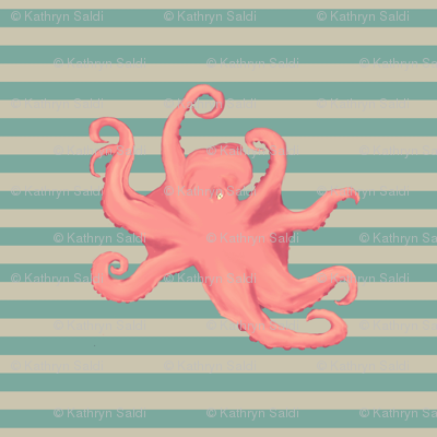Vintage Octopus - small tile