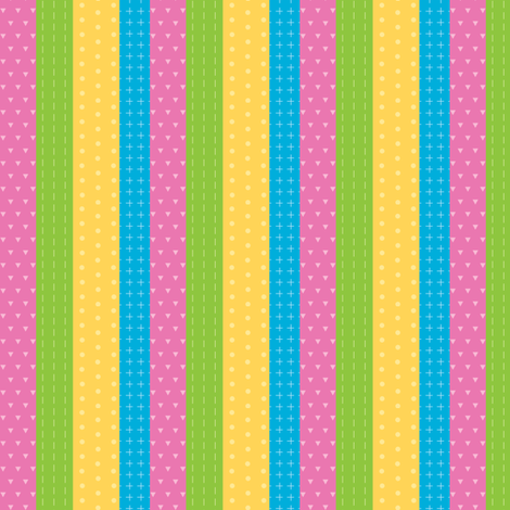 Dinostripes pink fabric by petitspixels on Spoonflower - custom fabric