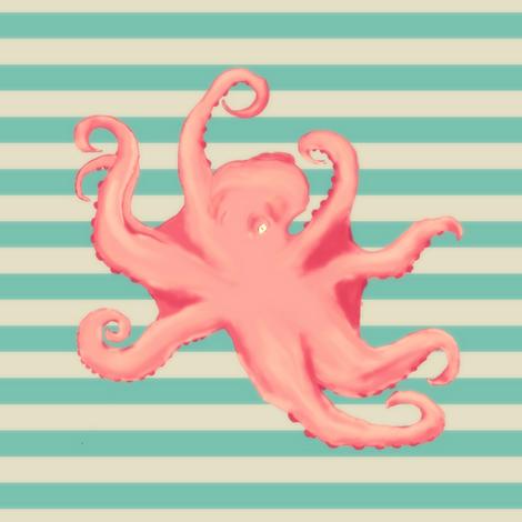 Vintage Octopus - take 2 fabric by kalliopekat on Spoonflower - custom fabric