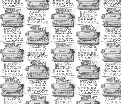 typewriter_4 fabric by jensmi on Spoonflower - custom fabric