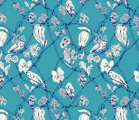 Anne - Cornflower fabric by gantpants on Spoonflower - custom fabric