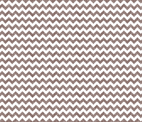linen chevrons - chocolate brown fabric by spacefem on Spoonflower - custom fabric