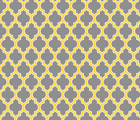 moroccan quatrefoil lattice in gold fabric by spacefem on Spoonflower - custom fabric