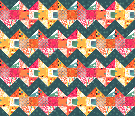 Firecracker Fantasy fabric by haleystudio on Spoonflower - custom fabric