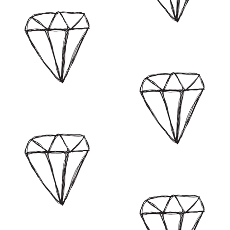 diamond sketch fabric by tagkari on Spoonflower - custom fabric
