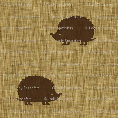 Hedgehogs on linen