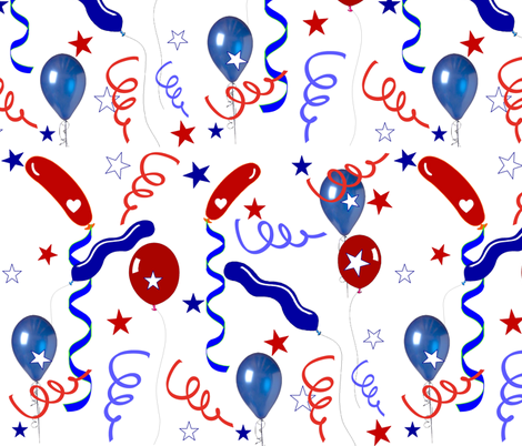 ELECTION DAY CELEBRATION fabric by bluevelvet on Spoonflower - custom fabric