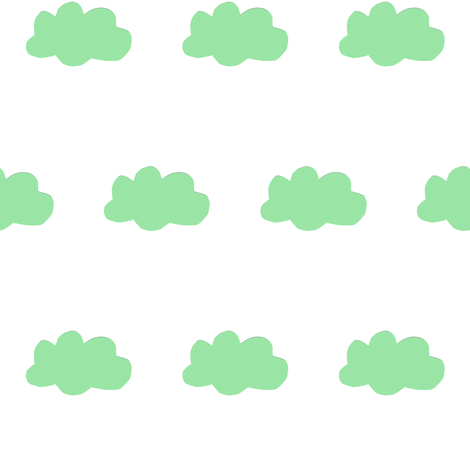 cloud-green fabric by tagkari on Spoonflower - custom fabric