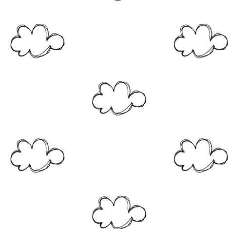 cloud sketch fabric by tagkari on Spoonflower - custom fabric