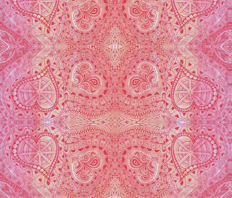 Hearts Afire! fabric by katiame on Spoonflower - custom fabric