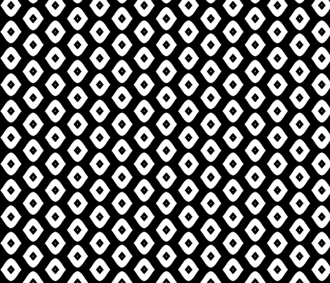 Diamond Girl (black & white) fabric by pattyryboltdesigns on Spoonflower - custom fabric